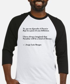 Borges library quote-Bilingual Baseball Jersey
