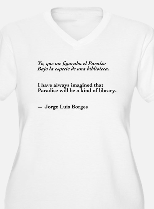 Borges library quote-Bilingual T-Shirt