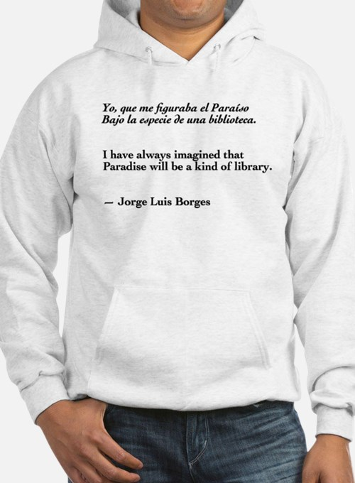 Borges library quote-Bilingual Hoodie