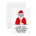 Grumpy Santa Greeting Cards (Pk of 10)