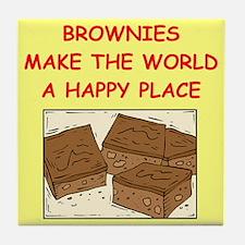 brownies Tile Coaster
