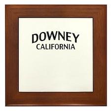 Downey California Framed Tile