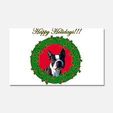 Christmas Boston Terrier Car Magnet 20 x 12