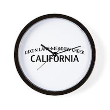 Dixon Lane-Meadow Creek California Wall Clock