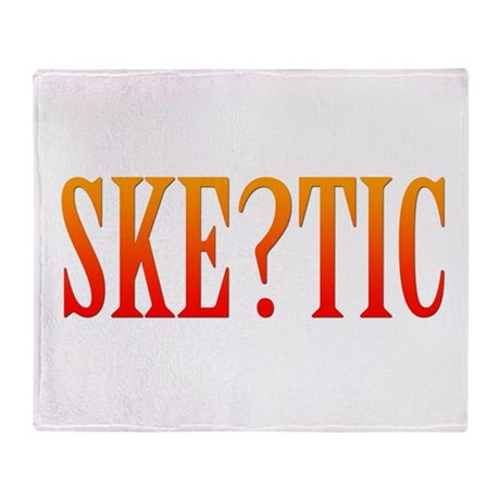 Skeptic Throw Blanket