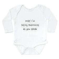 Phonemes Long Sleeve Infant Bodysuit