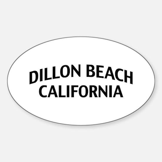 Dillon Beach California Sticker (Oval)