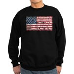 US Flag Distressed Sweatshirt (dark)