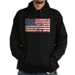 US Flag Distressed Hoodie (dark)
