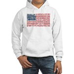US Flag Distressed Hooded Sweatshirt