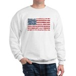 US Flag Distressed Sweatshirt
