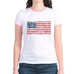 US Flag Distressed Jr. Ringer T-Shirt