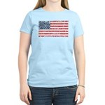 US Flag Distressed Women's Light T-Shirt