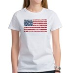 US Flag Distressed Women's T-Shirt