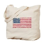 US Flag Distressed Tote Bag