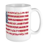 US Flag Distressed Large Mug