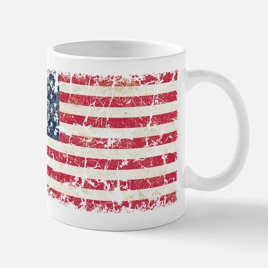 US Flag Distressed Mug