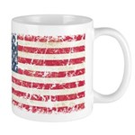 US Flag Distressed Mug