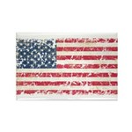 US Flag Distressed Rectangle Magnet
