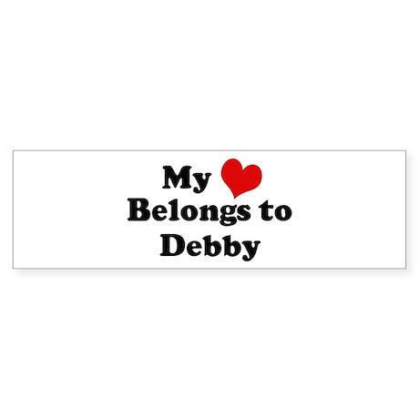 My Heart: Debby Bumper Sticker