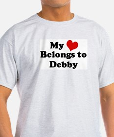 My Heart: Debby Ash Grey T-Shirt