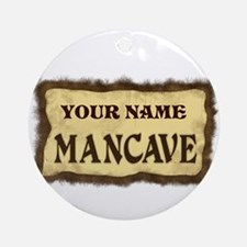Mancave Sign Ornament (Round)