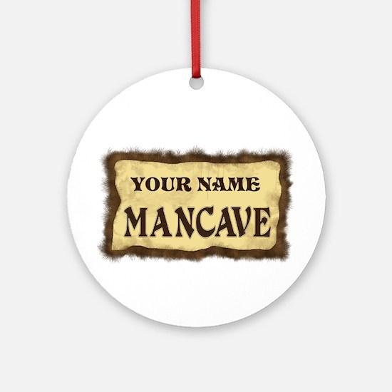 Mancave Sign Ornament (Round)