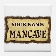 Mancave Sign Tile Coaster