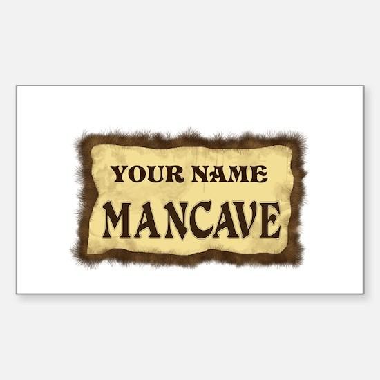 Mancave Sign Sticker (Rectangle)