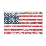 US Flag Distressed 22x14 Wall Peel