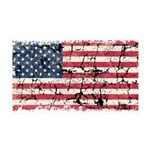 US Flag Distressed 38.5 x 24.5 Wall Peel