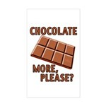Chocolate - More Please? Sticker (Rectangle)