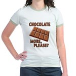 Chocolate - More Please? Jr. Ringer T-Shirt