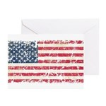US Flag Distressed Greeting Cards (Pk of 20)