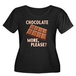 Chocolate - More Please? Women's Plus Size Scoop N