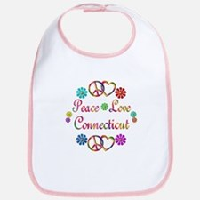 Peace Love Connecticut Bib