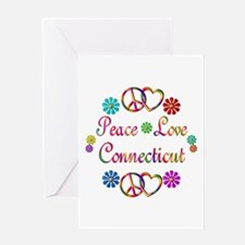 Peace Love Connecticut Greeting Card