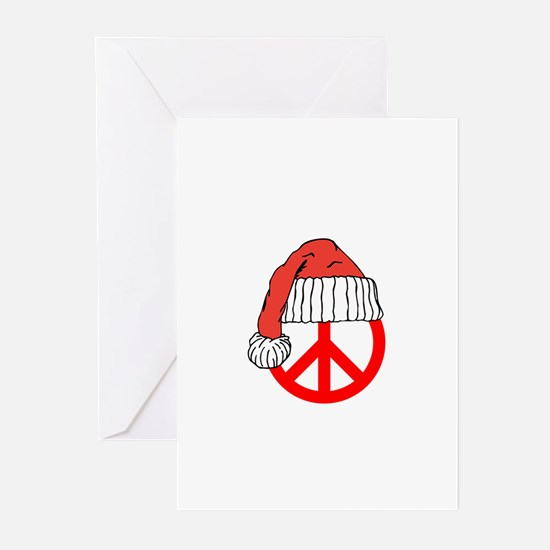 Unique Peace sign christmas Greeting Cards (Pk of 20)