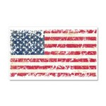 US Flag Distressed Car Magnet 20 x 12