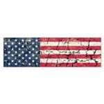 US Flag Distressed Sticker (Bumper 50 pk)
