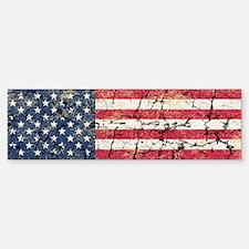US Flag Distressed Bumper Bumper Sticker