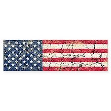 US Flag Distressed Bumper Sticker