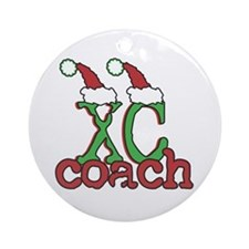 XC Holiday Cross Country Coach Ornament (Round)