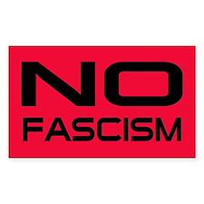 no fascism... Rectangle Decal