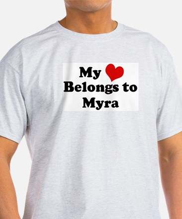 My Heart: Myra Ash Grey T-Shirt
