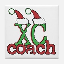 XC Holiday Cross Country Coach Tile Coaster