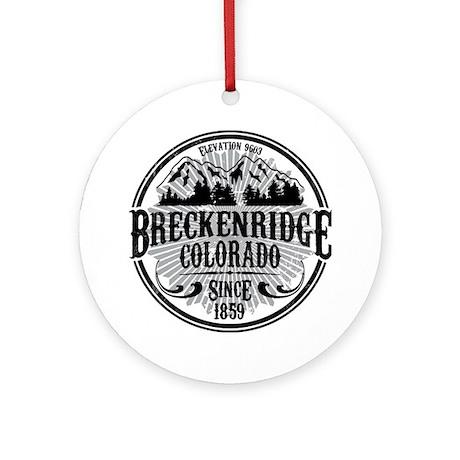 Breckenridge Old Circle Ornament (Round)