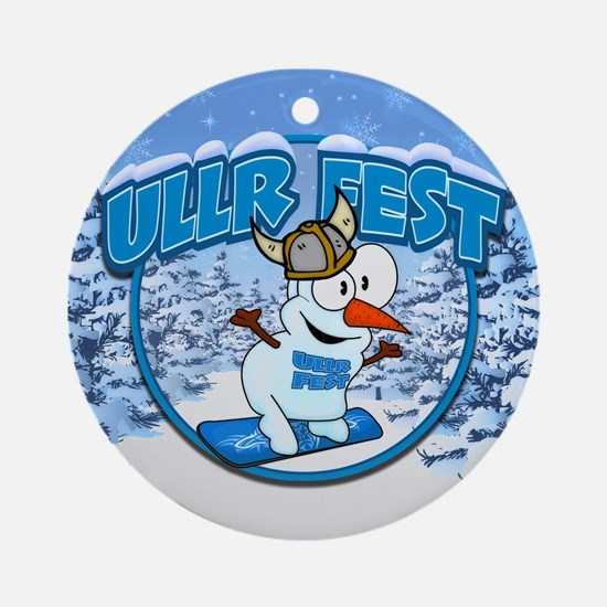 UllrFest Snowboarder Ornament (Round)