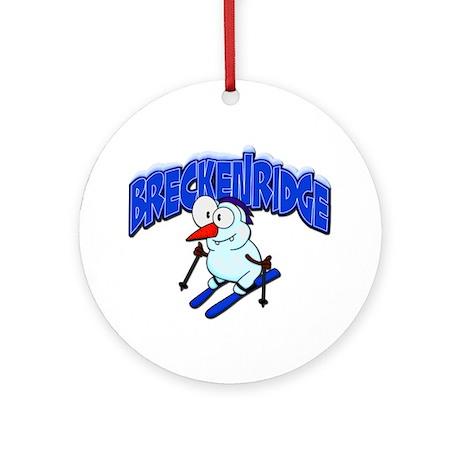 Breckenridge Snowman Ornament (Round)