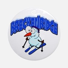 Breckenridge Snowman Ornament (Round)